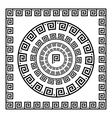 Greek Ornament Circle ornament meander Round vector image