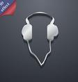 headphones icon symbol 3D style Trendy modern vector image vector image
