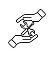 help repair thin line symbol mending icon logo vector image