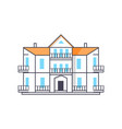 icon of building with entrance vector image