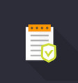 insurance policy icon flat style vector image