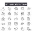 internet advertising line icons signs set vector image vector image