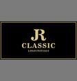 jr monogram classic logo design inspiration vector image vector image