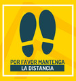 keep your distance in spanish to mark vector image vector image