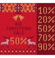 Knitted Christmas Sale vector image vector image