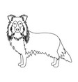 laika single icon in outline stylelaika vector image vector image
