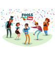 laughing people vector image vector image