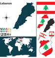 Lebanon map world vector image vector image