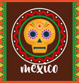 mexican mask celebration icon vector image vector image