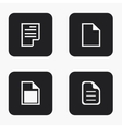 modern file icons set vector image vector image
