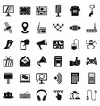 network icons set simple style vector image vector image