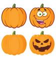 orange pumpkin vegetables cartoon design vector image vector image