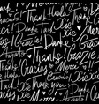 pattern of thank you in different languages vector image
