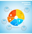 Pie chart education infographic vector image vector image