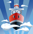 red ship in the air clouds vector image vector image
