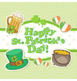 Saint Patricks Day elements invitation postcard vector image vector image