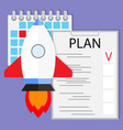 schedule startup launch plan vector image vector image