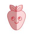 silhouette kawaii nice happy strawberry icon vector image vector image
