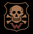 skull and bones military insignia germany in vector image
