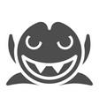 smiling vampire solid icon dracula vector image vector image