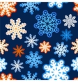 Snowflake winter blue background christmas paper vector image vector image