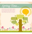 spring time speech bubble meadow vector image vector image