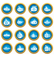 submarine icons set simple style vector image vector image