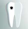 tooth as a notepad with ink drop vector image vector image