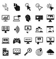 touchscreen icons set simple style vector image vector image