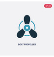 two color boat propeller icon from transport vector image