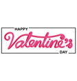 valentines day beautiful calligraphic lettering vector image vector image