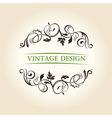 vintage decor label ornament design emblem vector image vector image