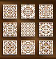 vintage gold tiles with swirly patterns vector image