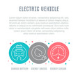 website banner and landing page electric vector image vector image