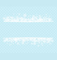 winter snowflakes blue background for holiday text vector image vector image