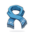 wool winter scarf with snowflake pattern vector image vector image