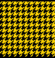 yellow and black houndstooth seamless pattern vector image