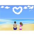 Couple on a beach vector image