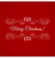Merry Christmas badge over red vector image