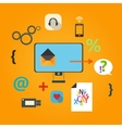 Set of flat icons for web concept vector image