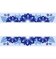 frame of blue flowers vector image