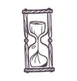 Sandglass vintage vector image