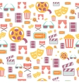 seamless pattern with retro cinema icons vector image