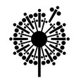 Abstract dandelion icon simple style