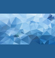 abstract irregular polygonal background blue vector image vector image
