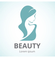 Abstract logo beautiful woman in profile vector image vector image