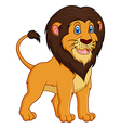 Adorable lion cartoon on white background vector image