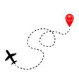 airplane line path vector image vector image