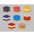 Barrels on the pallets vector image vector image