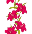 Beautiful Seamless Wallpaper with Lily Flowers vector image vector image